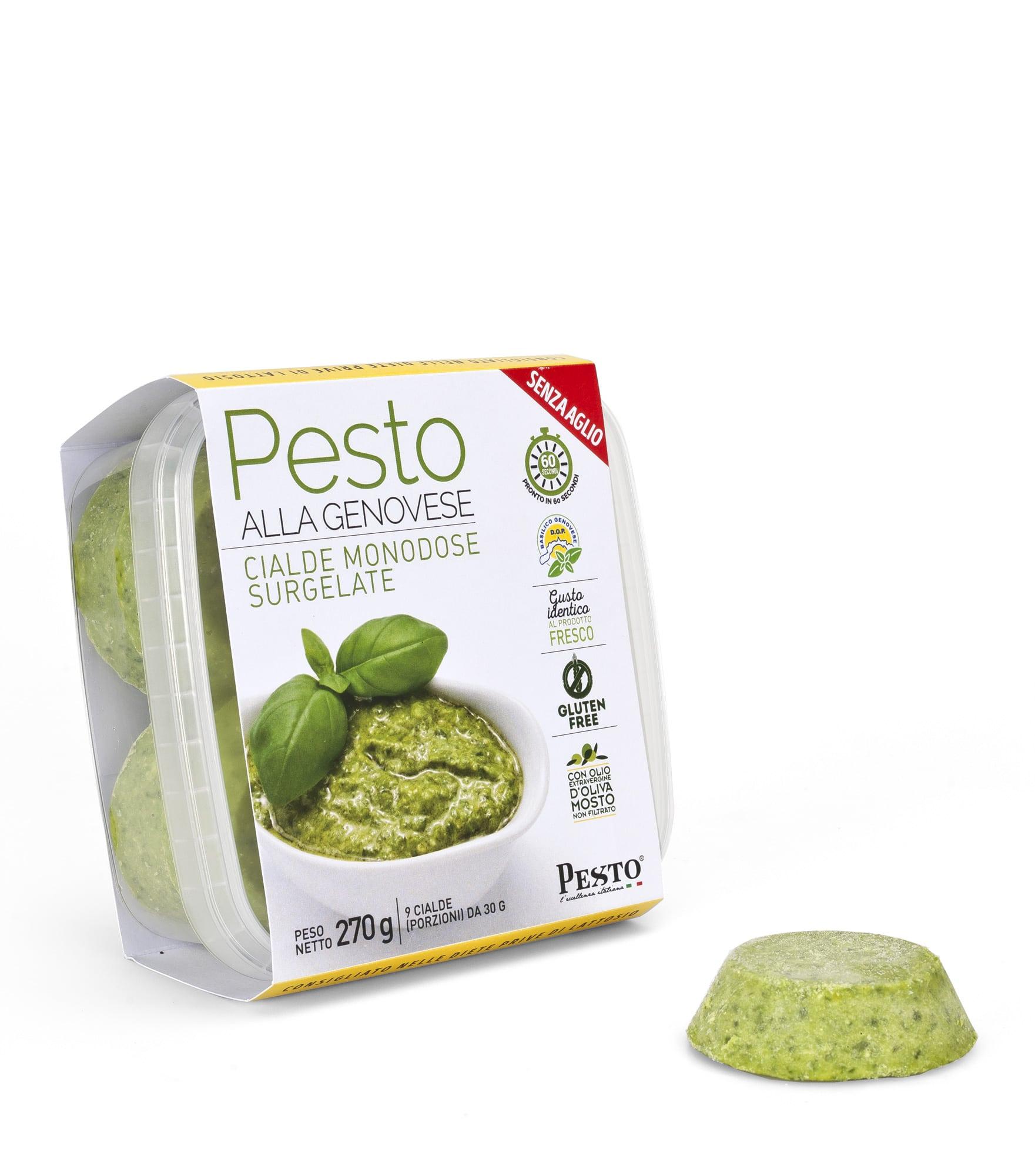 Pesto alla genovese surgelato in Cialde senza aglio 270 gr