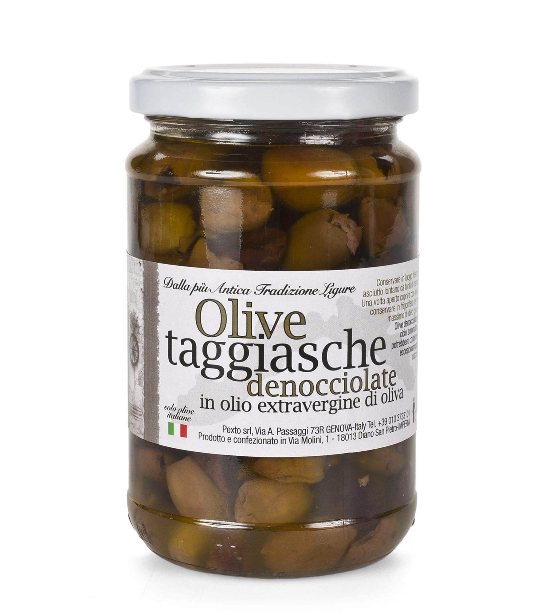 Olive taggiasche denocciolate in vasetto da 180 gr