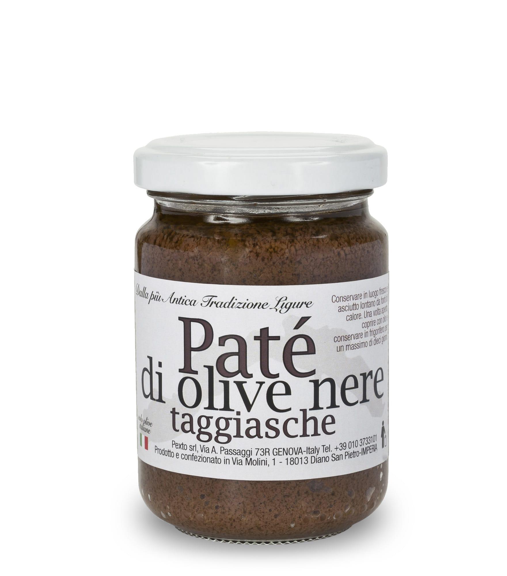 Paté d'olive taggiasche in vasetto da 130 gr