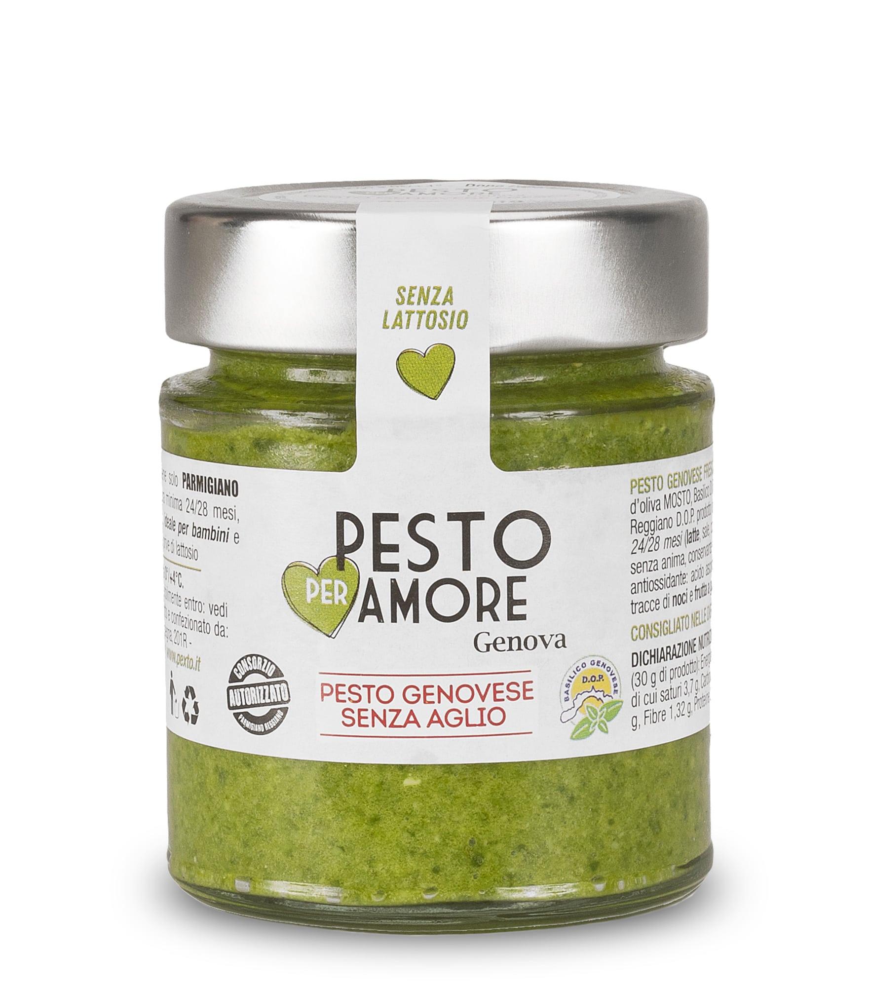 Pesto alla Genovese Fresco senza aglio vasetto da 130 gr