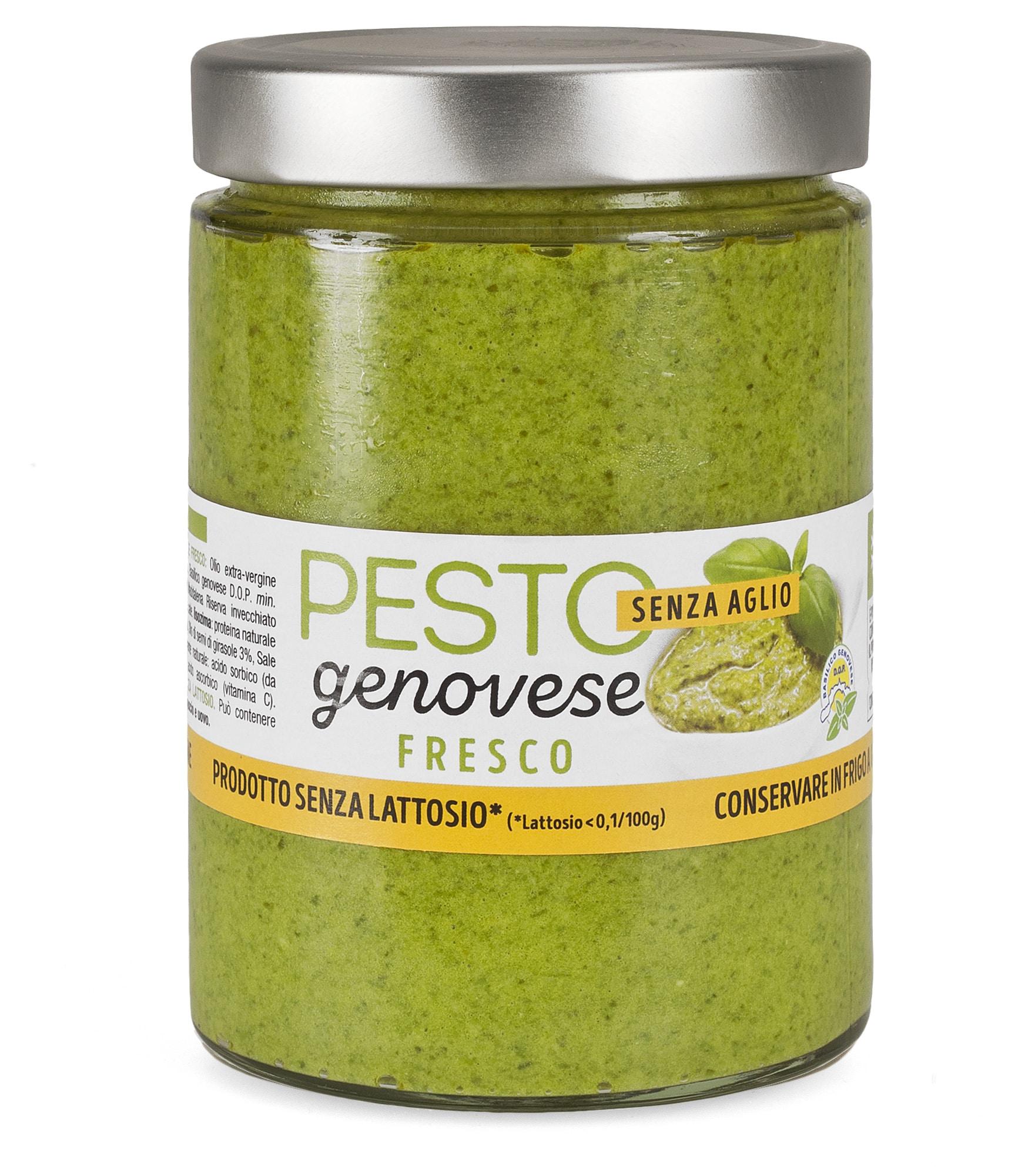 Pesto alla Genovese Fresco senza aglio in vaso da 500 gr