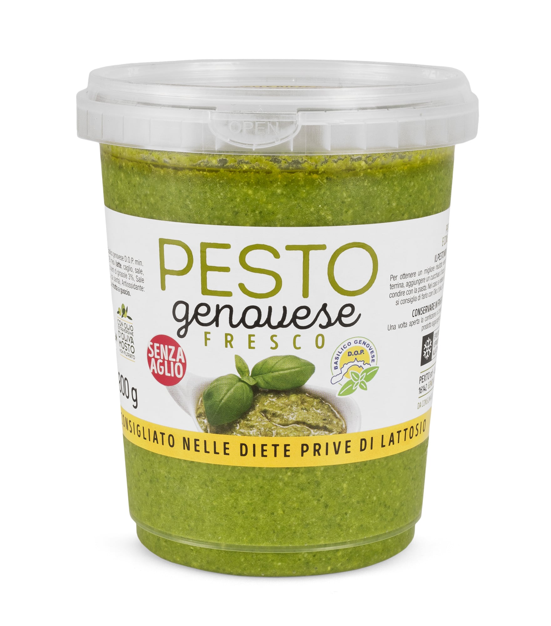 Pesto alla genovese fresco senza aglio in PET da 800 gr